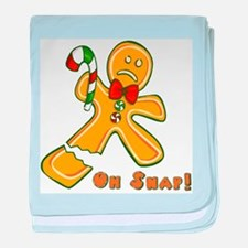"""""""Oh Snap!"""" Ginger Bread Man baby blanket"""