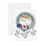 Fleming Clan Badge Greeting Cards (Pk of 10)