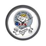 Fleming Clan Badge Wall Clock