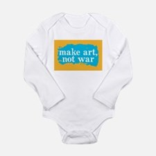 Make Art, Not War Long Sleeve Infant Bodysuit
