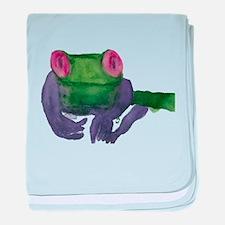 Thoughtful Frog baby blanket