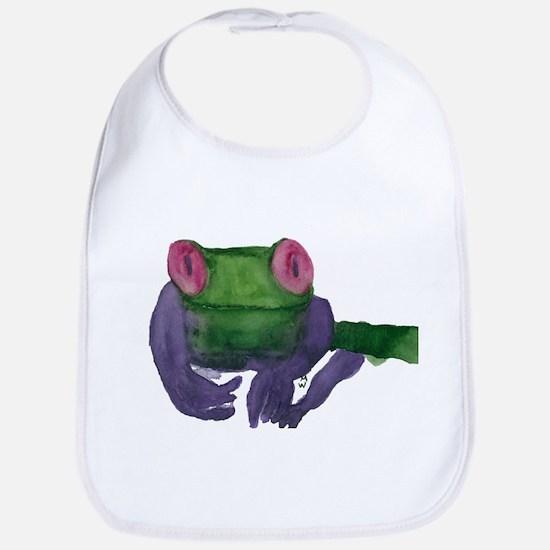 Thoughtful Frog Bib