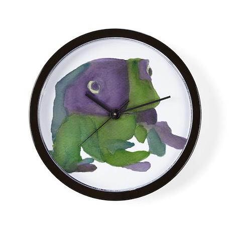 Peaceful Frog Wall Clock