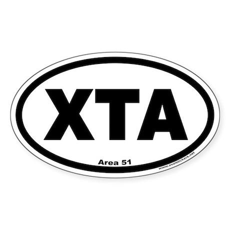 Area 51 XTA Euro Oval Sticker