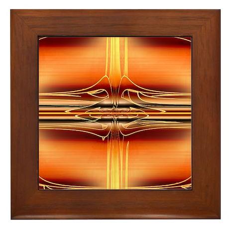Nuclear Orange Framed Tile