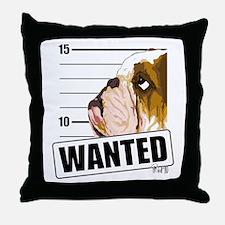 Bulldog Wanted Throw Pillow