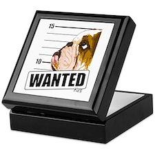 Bulldog Wanted Keepsake Box
