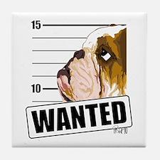 Bulldog Wanted Tile Coaster