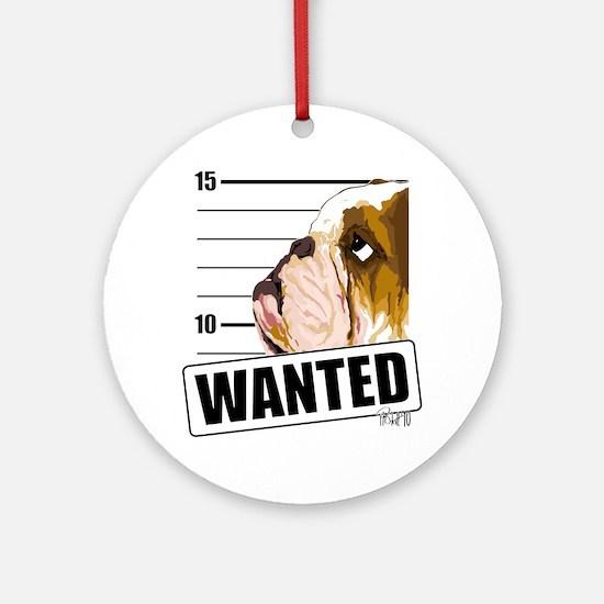 Bulldog Wanted Ornament (Round)