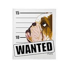 Bulldog Wanted Throw Blanket