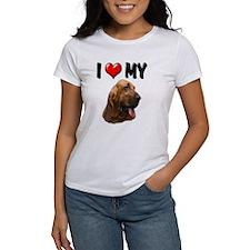 I Love My Bloodhound Tee