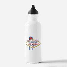 Welcome To Fabulous Las Veags Honeymoon Water Bottle