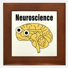 Neuroscience Brain Framed Tile