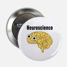 "Neuroscience Brain 2.25"" Button"
