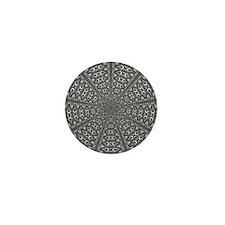 Slaserwood Black Optical Art Mini Button