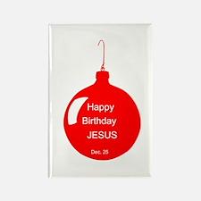 Happy Birthday Jesus (red) Rectangle Magnet