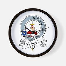 Erskine Clan Badge Wall Clock