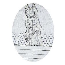 Golden High Jump Ornament (Oval)