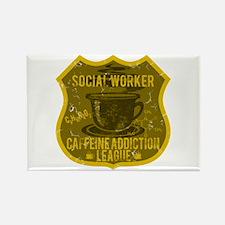 Social Worker Caffeine Addiction Rectangle Magnet