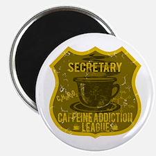 Secretary Caffeine Addiction Magnet