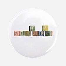 """Nicholas Alphabet Block 3.5"""" Button (100 pack)"""