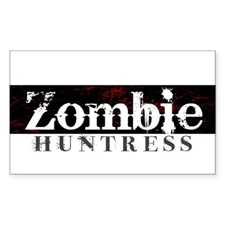 Zombie Huntress Sticker (Rectangle)