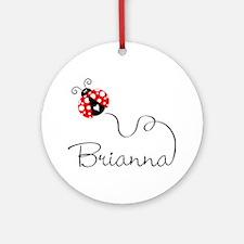 Ladybug Brianna Ornament (Round)