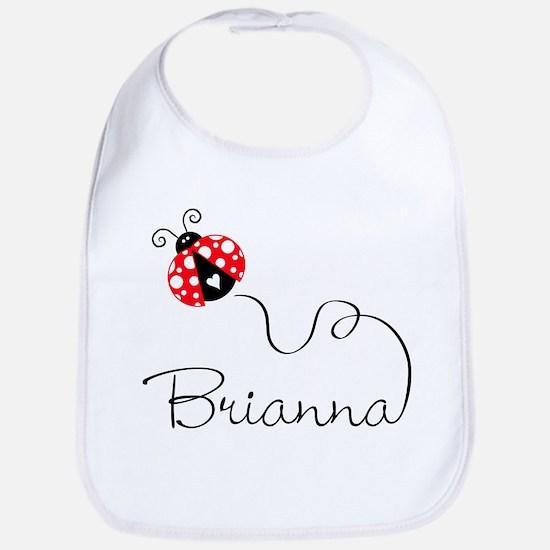 Ladybug Brianna Bib