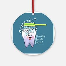Funny Dental Ornament (Round)