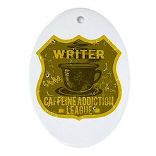 Writer Caffeine Addiction Ornament (Oval)