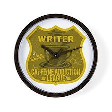 Writer Caffeine Addiction Wall Clock