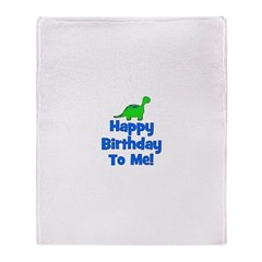 Happy Birthday To Me! Dinosau Throw Blanket