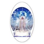 Winter Angel Oval Sticker
