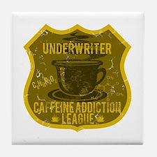 Underwriter Caffeine Addiction Tile Coaster