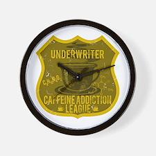 Underwriter Caffeine Addiction Wall Clock