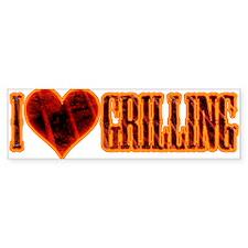 I Love Grilling Bumper Sticker