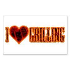 I Love Grilling Decal