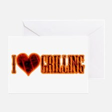I Love Grilling Greeting Card