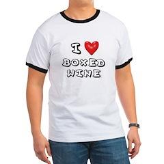 I Love Boxed Wine Shirt T