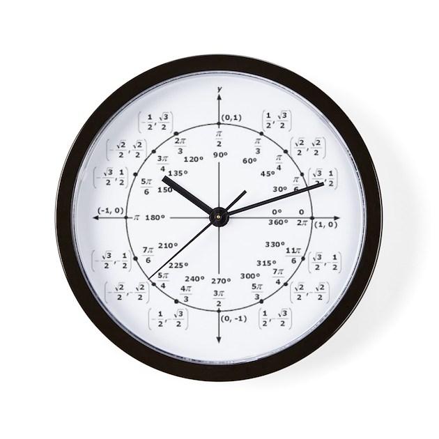 Unit Circle Radian Wall Clock By Poofietomato