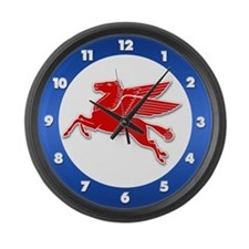 Pegasus Retro Large Wall Clock