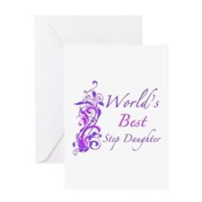 World's Best Step Daughter (Floral) Greeting Card