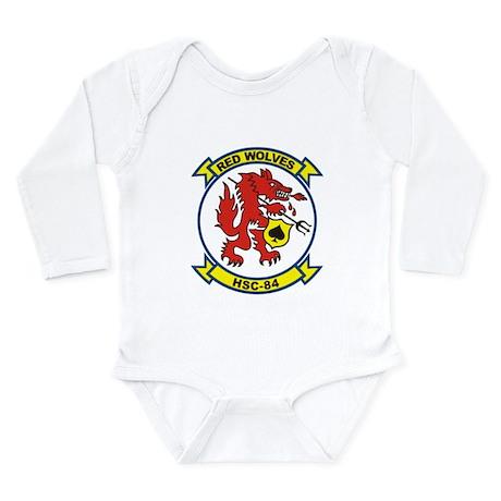 HSC-84 Red Wolves Long Sleeve Infant Bodysuit