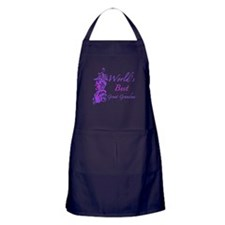 World's Best Great Grandma (Floral) Apron (dark)