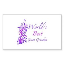 World's Best Great Grandma (Floral) Decal