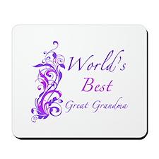 World's Best Great Grandma (Floral) Mousepad