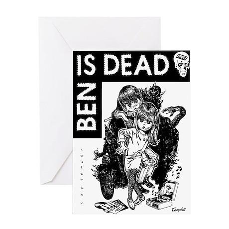 Ben Is Dead Big Eyes Greeting Card