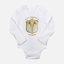 Corpsman USMC Retired Long Sleeve Infant Bodysuit