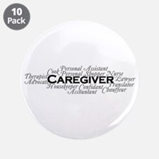 "Caregiver 3.5"" Button (10 Pack)"