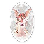 Little Angel Oval Sticker